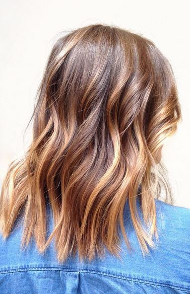 Pretty Caramel Balayage Mane Interest
