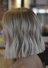above the shoulder hairstyle idea - triangular bob