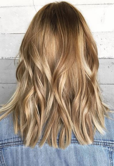 fall hair color idea - darker blonde with honey and copper hues
