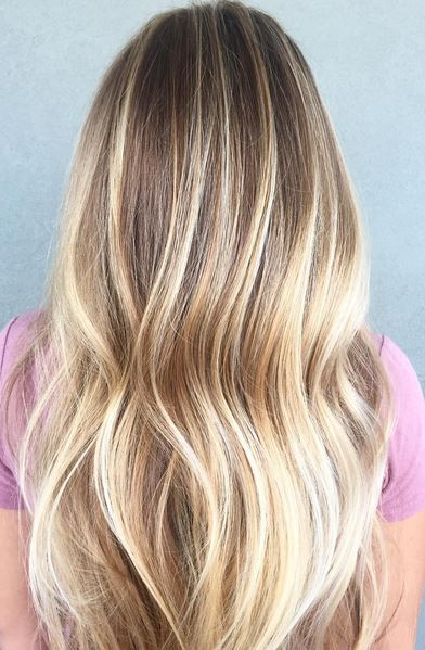 honey blonde and butter highlights