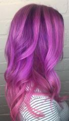 mix of pink purple and orchid color hair
