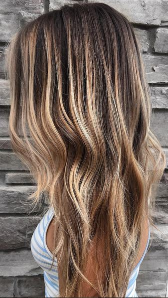 rooty bronde balayage highlights