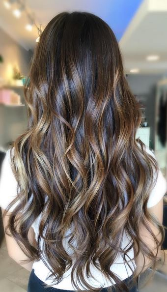 this brunette hair color - amazing