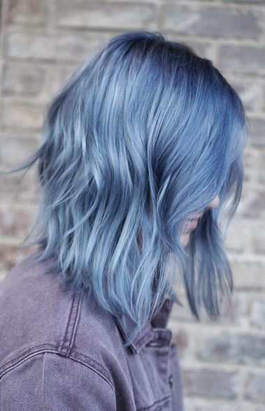 smokey-ash-blue-hair-color