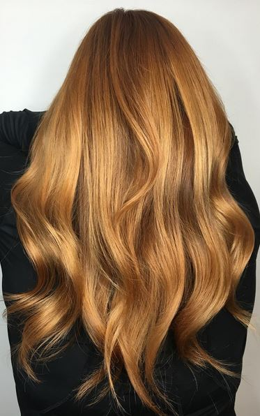 beautiful copper red hair color
