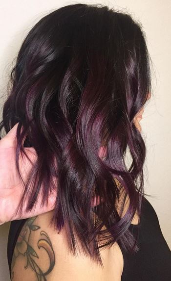 hair color idea - plum brunette