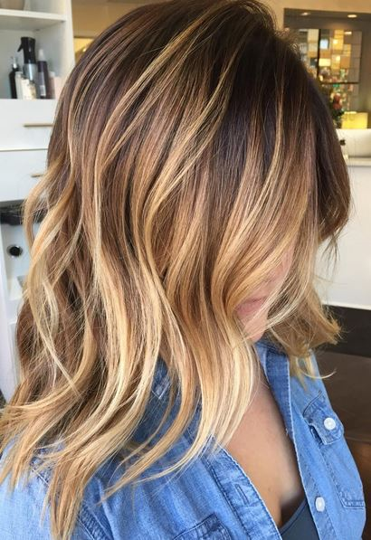 honey brown caramel highlights