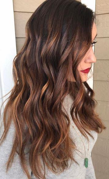 Warm brunette mane interest warm caramel brunette highlights get this now color by allurehairkerry pmusecretfo Images