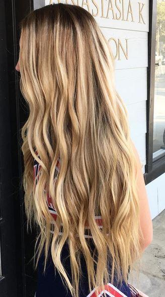 Long Blonde Balayage Highlights Mermaid Hair Mane Interest