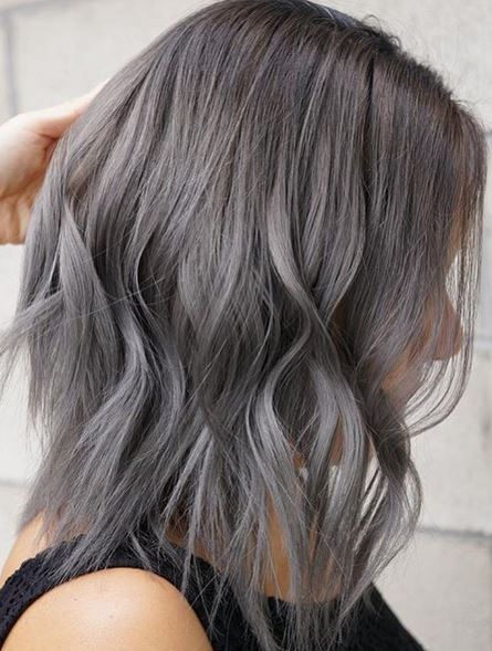 Silber Haarfarbe